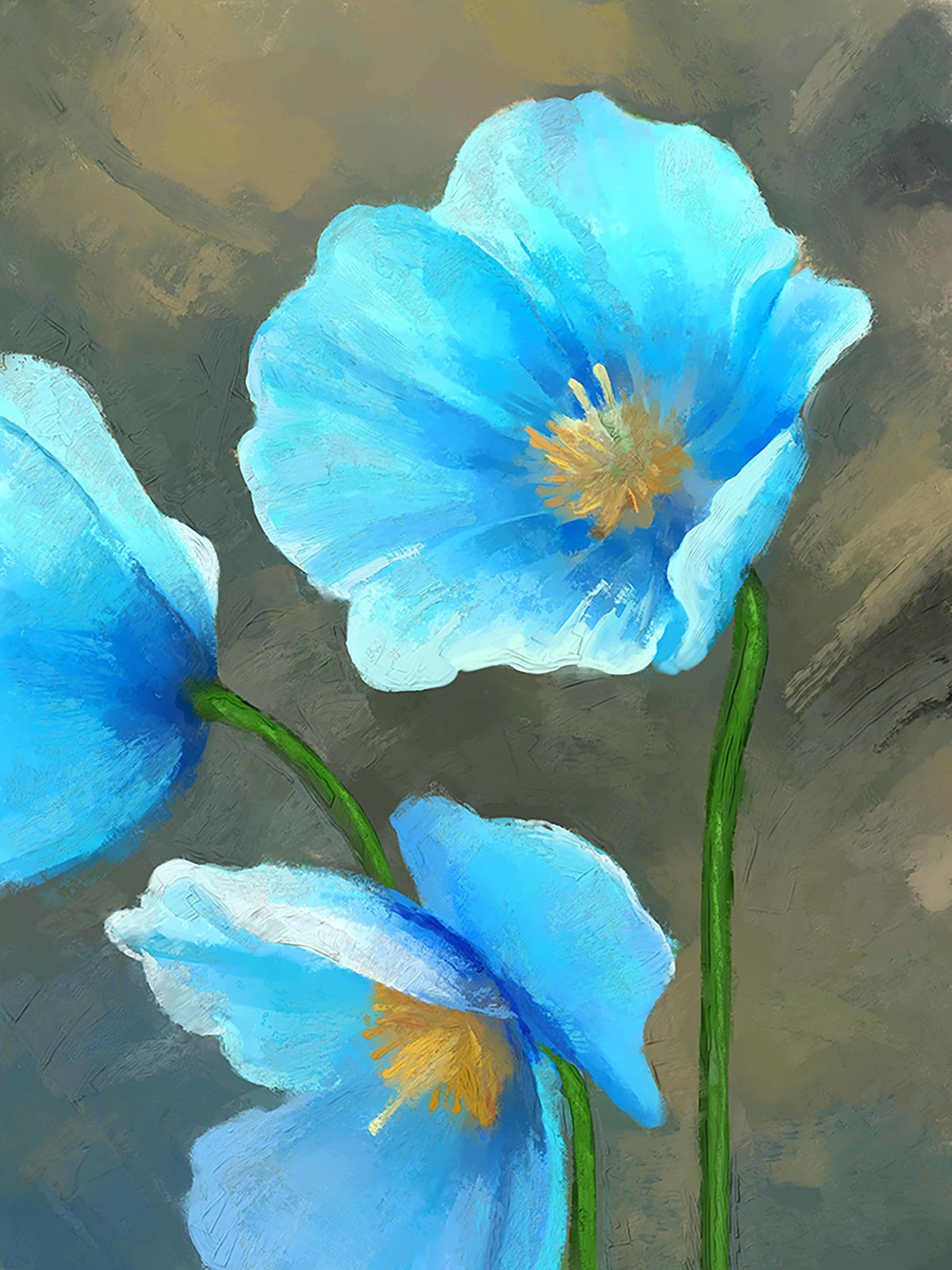 Blue Flower 75 By Artist The Print Studio Digital Painting Mojarto 269048