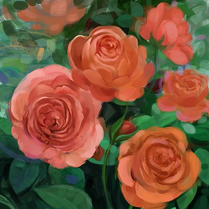 Morning Bloom - 92 Digital Print by The Print Studio,Digital