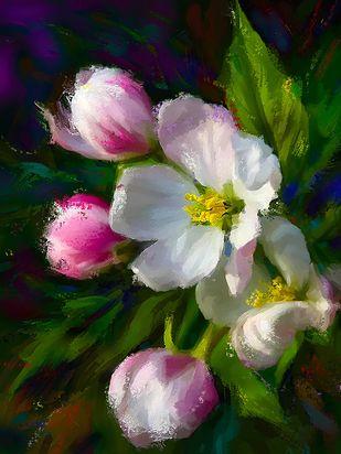 Flowers - 110 Digital Print by The Print Studio,Digital