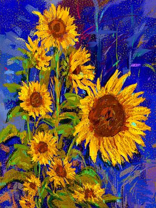 Sunflowers - 123 Digital Print by The Print Studio,Digital
