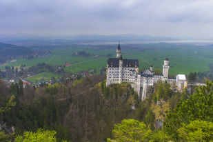 Neuschwanstein Castle by Amit More, Image Photography, Digital Print on Archival Paper, Green color