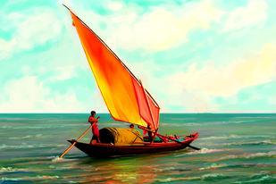 Smooth Sail Digital Print by The Print Studio,Impressionism