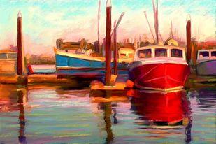 Harbour - 28 Digital Print by The Print Studio,Impressionism