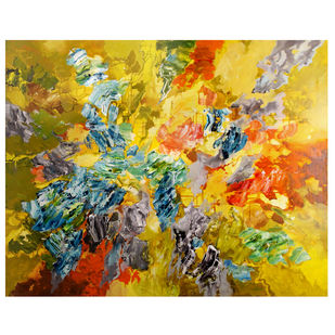 Autumn by Sonali S Iyengar, Abstract Painting, Acrylic on Canvas, Beige color