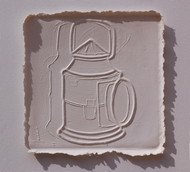 White Memories 01 by Ravikumar Kashi, Art Deco Printmaking, Cast Paper, Brown color