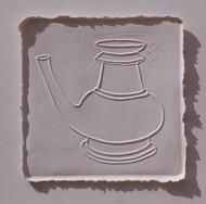 White Memories 09 by Ravikumar Kashi, Art Deco Printmaking, Cast Paper, Brown color