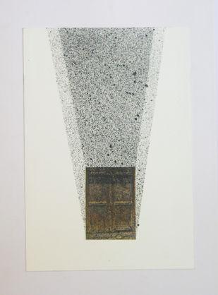 inside by Deepak sahagal, Geometrical Drawing, Acrylic on Paper, Gray color
