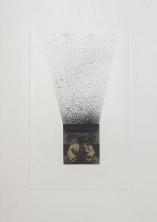 inside outside by Deepak sahagal, Geometrical Drawing, Acrylic on Paper, Gray color