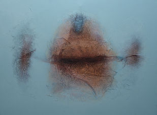 Untitled by Sanju Jain, Abstract Painting, Mixed Media on Canvas,