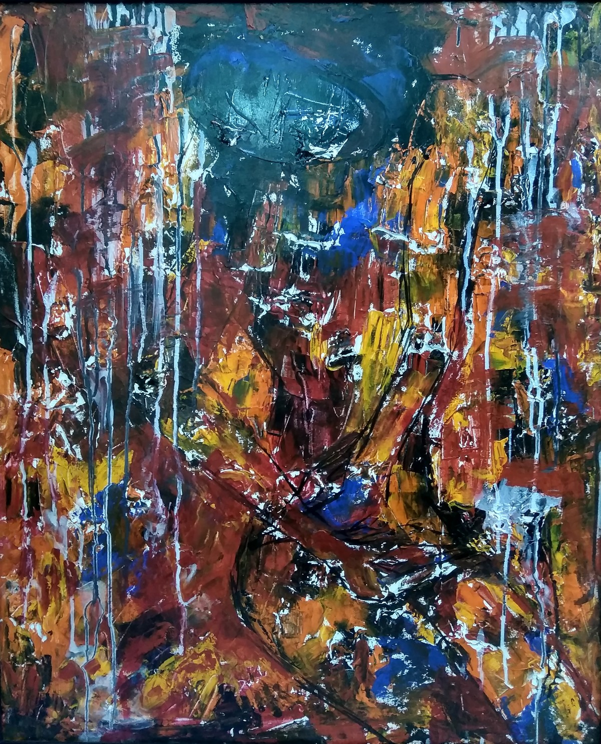 Freedom I by Unnati S Khare, Abstract Painting, Acrylic on Canvas,