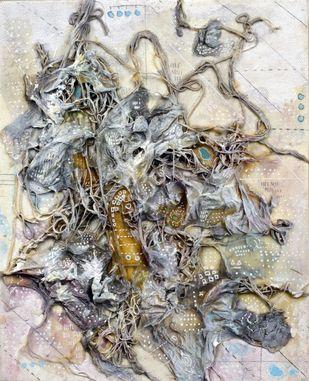 Leviathan - 4 by Viraag Desai, Abstract Painting, Mixed Media on Canvas,