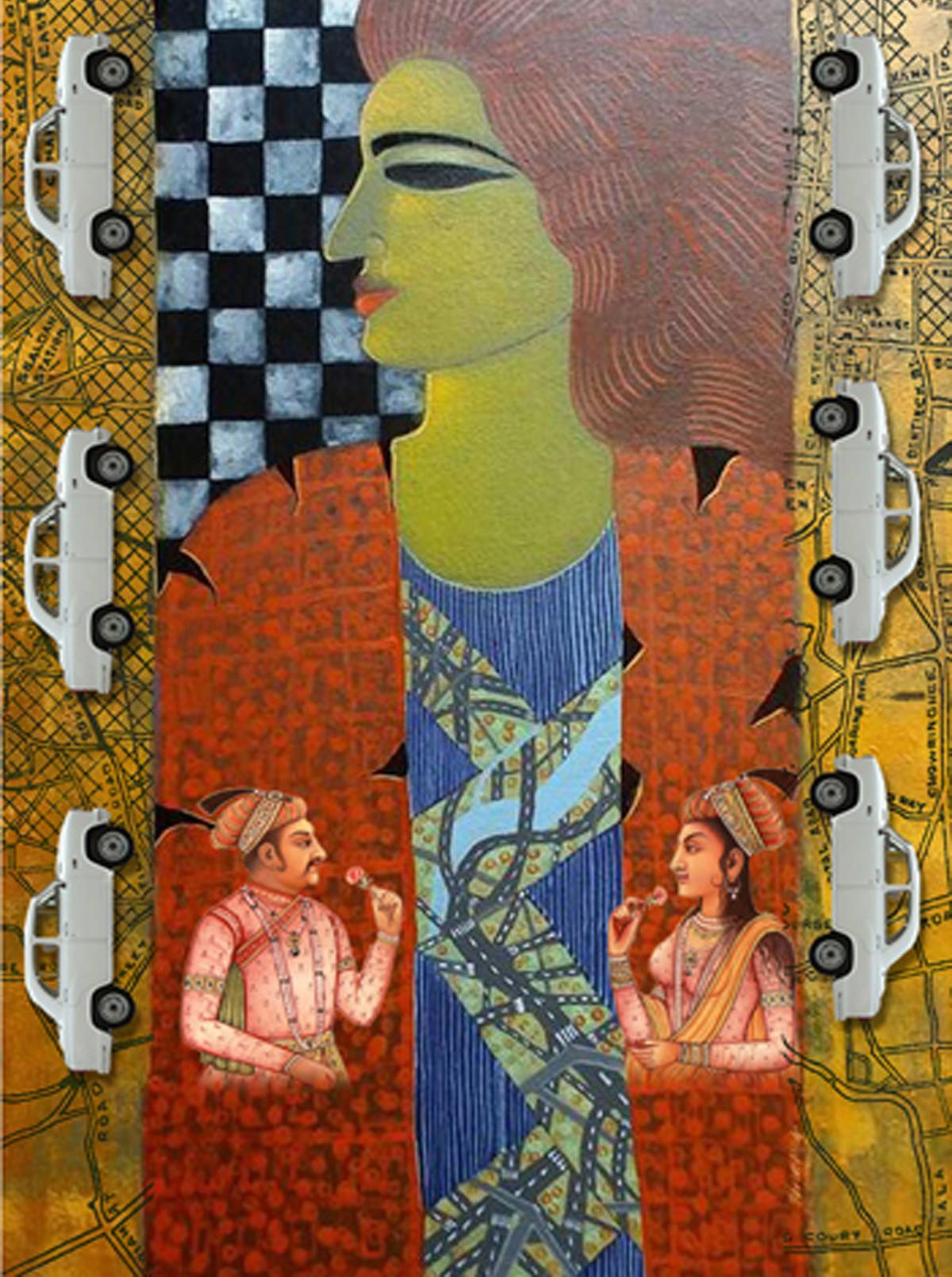 UNTITLED IV by ARINDAM CHAKRABORTY, Digital Digital Art, Digital Print on Archival Paper, Red color