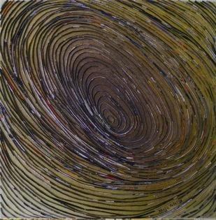 whirlpool by Neelu patel, Art Deco Painting, Mixed Media on Canvas,