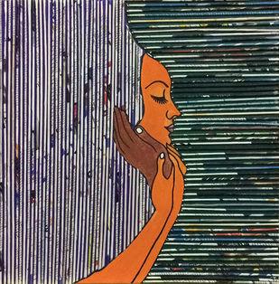 dedication by Neelu patel, Art Deco Painting, Mixed Media on Canvas,