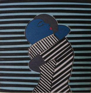 deep hug by Neelu patel, Expressionism Painting, Mixed Media on Canvas,