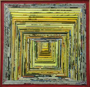 wine glass by Neelu patel, Art Deco Painting, Mixed Media on Canvas,