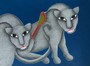 Untitled by Venkat Shyam, Folk Painting, Acrylic & Ink on Paper,