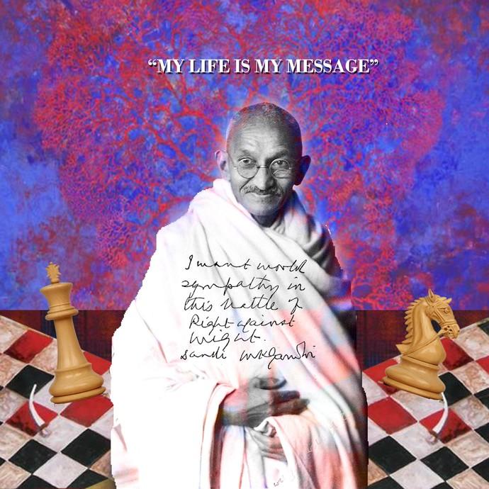 MY LIFE IS MY MESSAGE by ARINDAM CHAKRABORTY, Digital Digital Art, Digital Print on Archival Paper, Purple color