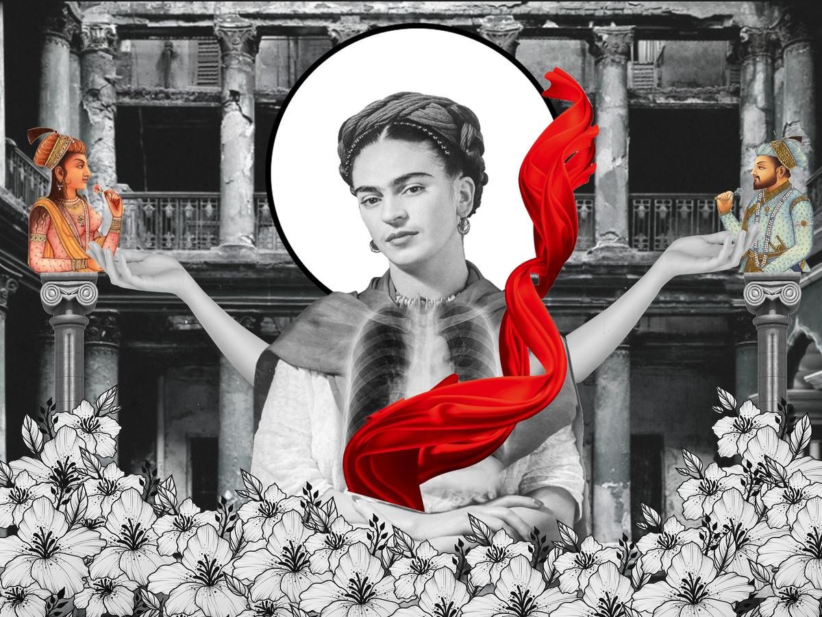 SOULMATE AND FRIDA by ARINDAM CHAKRABORTY, Digital Digital Art, Digital Print on Archival Paper, Gray color