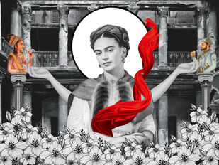 SOULMATE AND FRIDA by ARINDAM CHAKRABORTY, Digital Digital Art, Digital Print on Archival Paper, Gray color