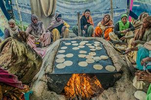 Saanjha Chulah by Ranu Jain, Image Photography, Digital Print on Paper, Brown color