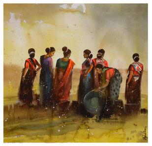 women_01 Digital Print by nadees prabou,Impressionism