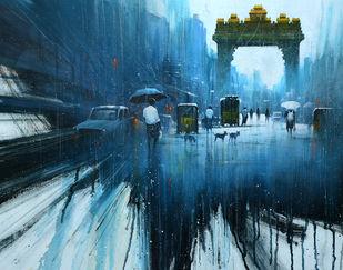 Street Temple_01 Digital Print by nadees prabou,Impressionism