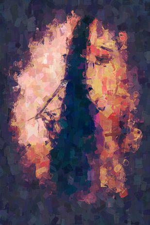 Abstraction by Pankaj Kumar, Digital Digital Art, Digital Print on Canvas, Blue color