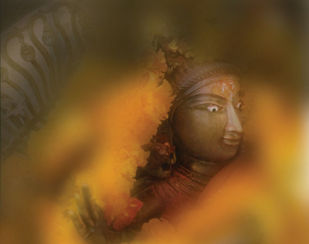 Shiva by pankaj agrawal, Minimalism Photography, Digital Print on Canvas, Gray color