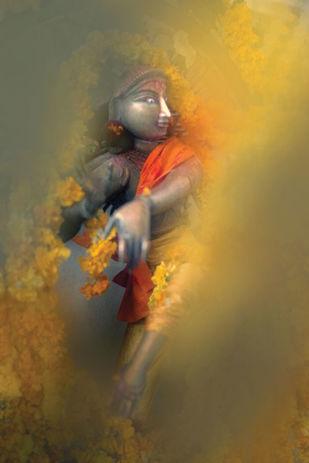 Natraj by pankaj agrawal, Minimalism Photography, Digital Print on Canvas, Green color