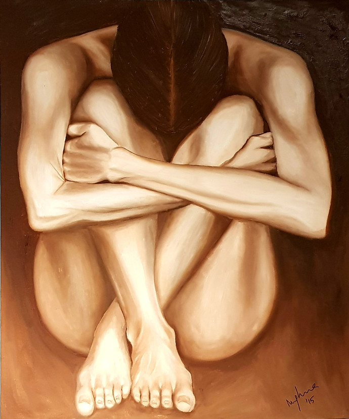 Solitude by Meghna Rao, Expressionism Painting, Oil on Canvas,