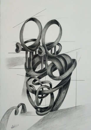 ruminator by AASHISH TANWAR, Illustration Drawing, Charcoal on Paper, Gray color