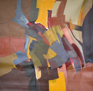 Poetics of emotions LI by Kandan G, Abstract Painting, Acrylic on Canvas, Brown color