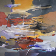 Poetics of Emotions LV by Kandan G, Abstract Painting, Acrylic on Canvas, Brown color