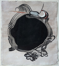 Untitled by Aparna Banerjee, Abstract Painting, Mixed Media on Paper, Gray color