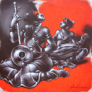 Untitled by Avinash Deshmukh, Expressionism Painting, Acrylic on Canvas, Brown color