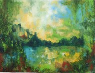 Rediscovery by Tvesha Singh, Abstract Painting, Acrylic on Canvas, Green color