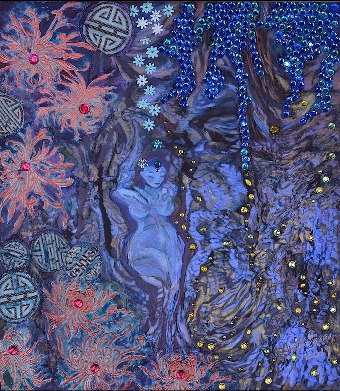 Tree Goddess Digital Print by Anita Saran,Traditional