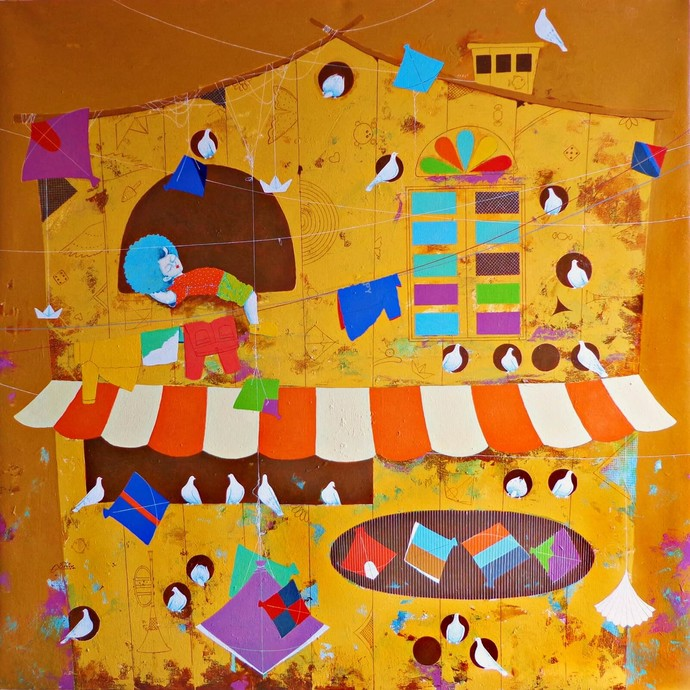 My Dream Home Digital Print by shiv kumar soni,Expressionism