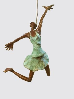 freedom by Shanta Samant, Art Deco Sculpture | 3D, Bronze, Gray color