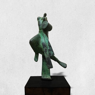 EUPHORIA by Atul Talukdar, Art Deco Sculpture | 3D, Bronze, Gray color