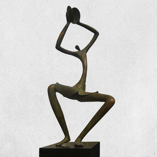 CHANTS by Atul Talukdar, Art Deco Sculpture | 3D, Bronze, Gray color