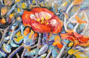 Dancing Flowers Digital Print by Shalini Sinha,Expressionism