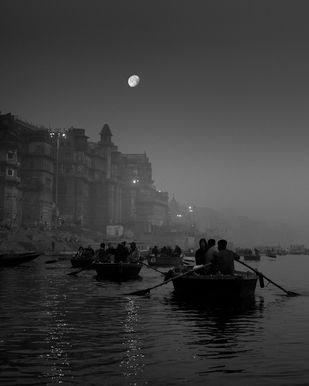 Varanasi by Jayanta Roy, Image Photography, Digital Print on Archival Paper, Gray color