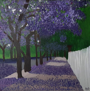 Purple Maple Digital Print by Tejal Bhagat,Expressionism