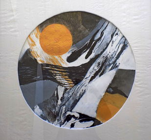 untitled by Vishwajyoti Mohrhoff, Abstract Painting, Acrylic on Paper, Gray color
