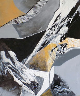 Untitled by Vishwajyoti Mohrhoff, Abstract Painting, Acrylic on Canvas, Gray color