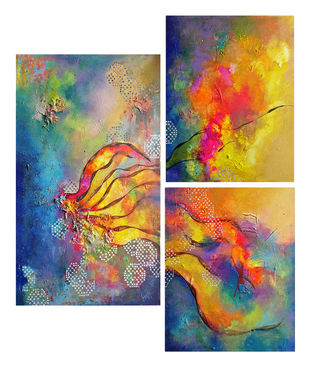 igniting glow by onima kashyap, Abstract Painting, Acrylic & Ink on Canvas, Brown color