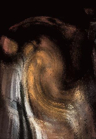 Dali's Ganesh by Maanas Lal, Digital Digital Art, Digital Print on Canvas, Brown color