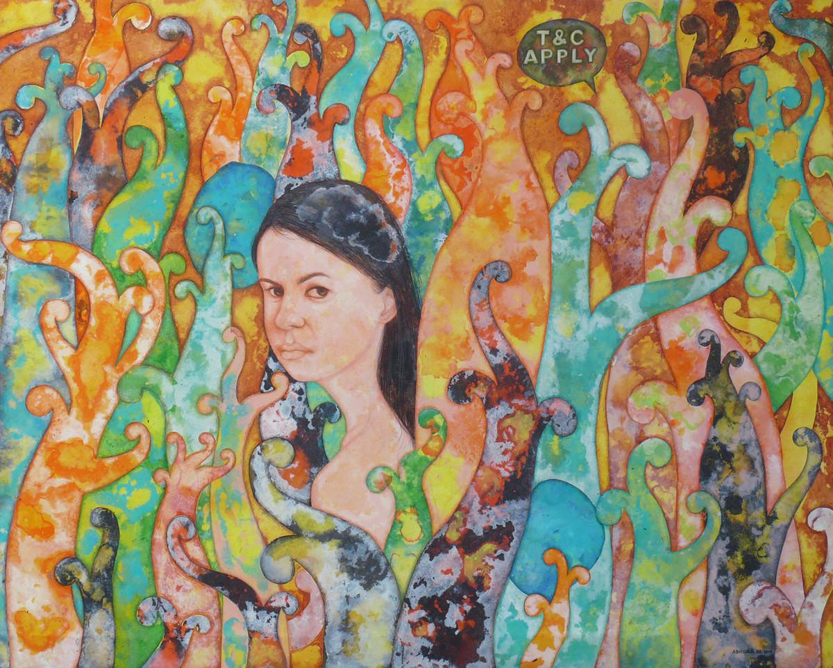 Strangers Voice Digital Print by Abhisek Dey,Expressionism